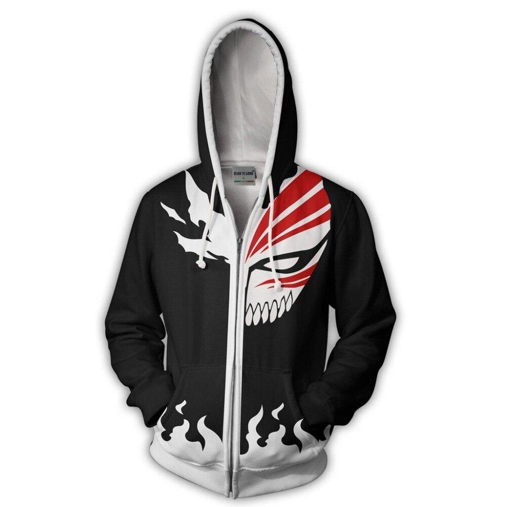 BIANYILONG 2019 new men hooded lye Ichigo 3D printed hoodies tracksuit zipper hoodie hip hop tops free