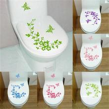 Decorative Butterfly Flower Vine Vinyl Wall Stickers Home Decoration For Toilet Refrigerator Decor Kitchen Bathroom Mural Decals