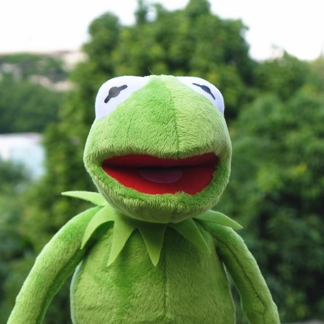 Kermit the Frog The Muppet Show 14'' 40cm Kermit plush toys Sesame Street doll animal  frog plush Stuffed Animal Doll