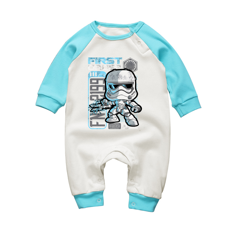 2017 Baby Clothing Set Newborn Baby Long Sleeve Rompers Star Wars Stormtrooper Boys Clothes Cotton Baby Girls Cartoon Jumpsuits wisbibi baby unisex one piece rompers new born baby clothes cotton long sleeve rompers baby girls boys clothing rompers baby