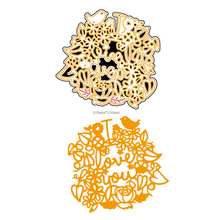 AZSG Love you Cutting Dies For DIY Scrapbooking Card Making Decorative Metal Die Cutter Decoration