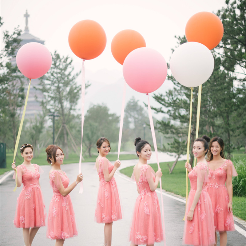 Colorful Super Large Balloons 27''Helium Inflable Latex Balloons Birthday Wedding Party Decor Round Big Giant Balloon 10 PCS/lot