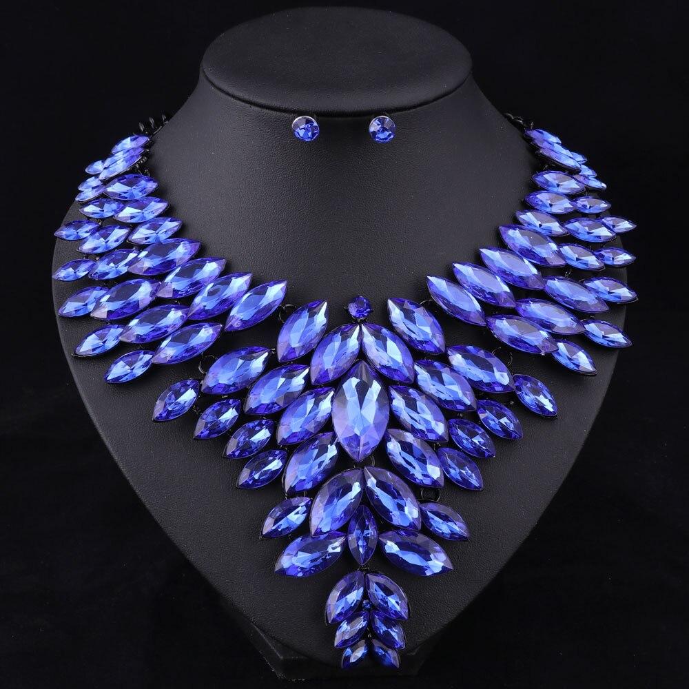 7 colores conjuntos de joyas de cuentas africanas collar de boda - Bisutería - foto 5