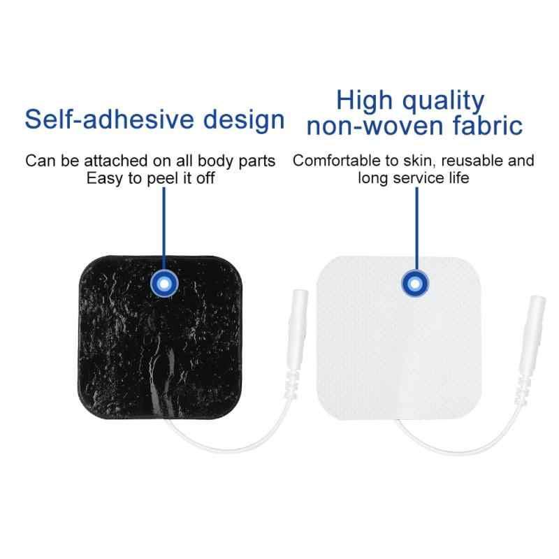 Мм 50*50 мм электроды колодки самоклеющиеся Замена десятки нетканые ткань физиотерапия ReusableTENS блок патчи Pad messager
