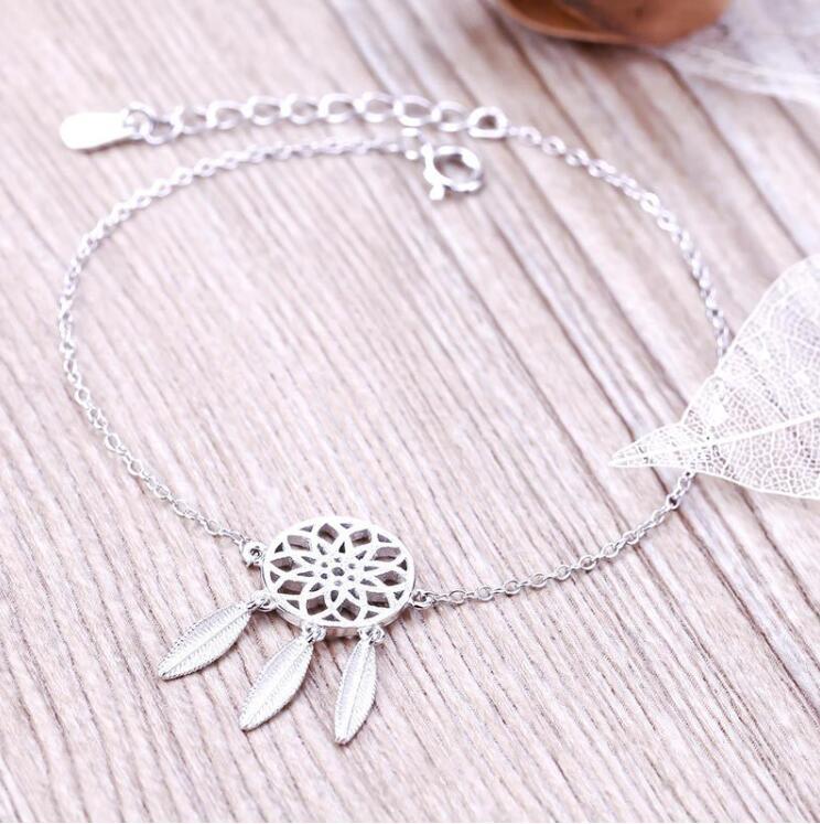 Silver Color Dreamcatcher Bracelet for Women