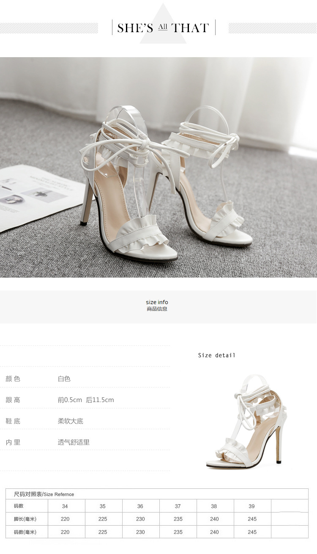 HTB1mcs0X6zuK1RjSspeq6ziHVXaO LTARTA 2019 Top Sale Sandals Women's sandals Fish-mouth Lace-crossed High-heeled Shoes PLUS SIZE 43 11.5cm heels ZL-8888-17