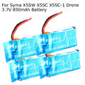Free shipping! 4 Pcs 3.7V 850mAh Blue Paper Lipo Battery For Syma X5SW X5SC RC Drone Quadcopter