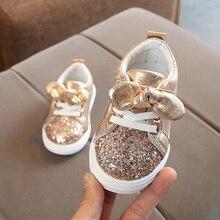 2019 весенне-Осенняя обувь для девочек, детская повседневная обувь с бантом, кроссовки на платформе, модная обувь для детей
