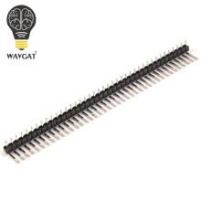 10 Pcs New 40Pin 2.54mm Single Row single pin curved Pin Header Connector Strip Curved Needle For Ar