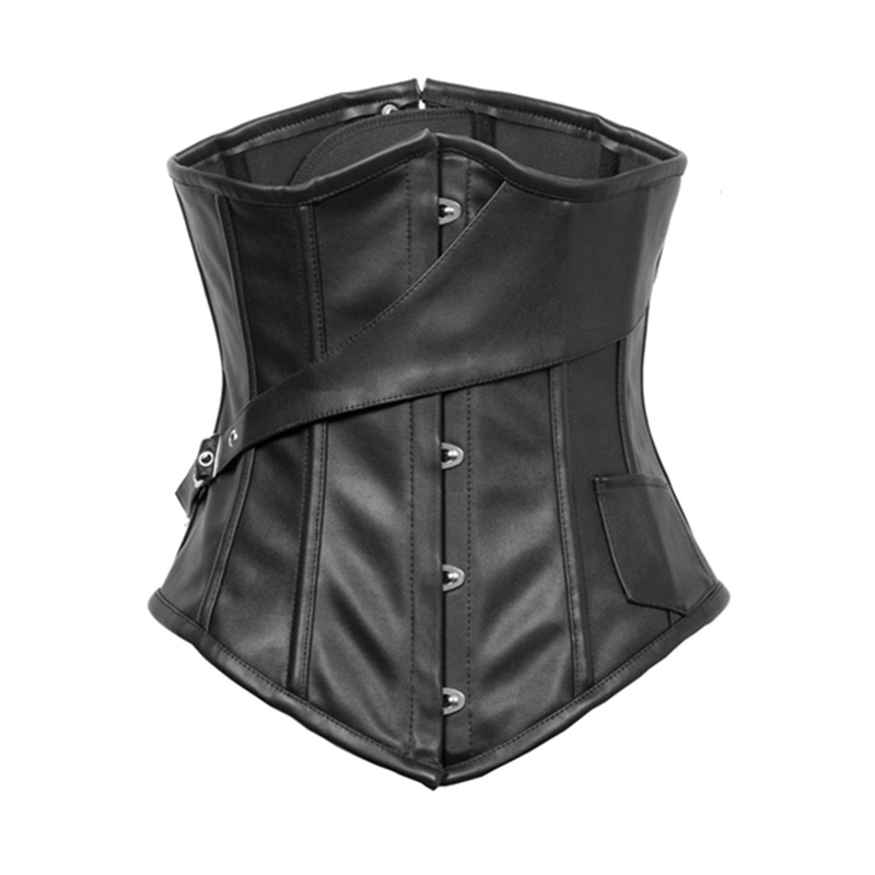 Newest Black Sexy Lingerie   Corset   Metal Boned   Corsets   Steel Boned Velvet Underbust   Corset   Leather   Bustiers     Corsets