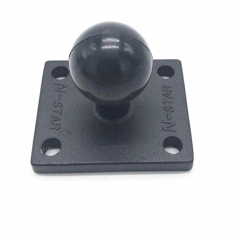 Quadrado de alumínio Base De Montagem w/1 polegada (25mm) bubber bola compatível para ram mounts para gorpo câmera, dslr, para garmin ..