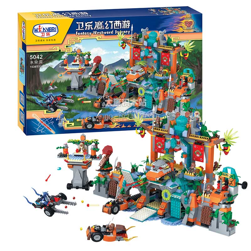 Winner Magic Westward Journey Series The Water Curtain Cave Building Blocks Educational Toys Brick Children For Christmas GiftsWinner Magic Westward Journey Series The Water Curtain Cave Building Blocks Educational Toys Brick Children For Christmas Gifts