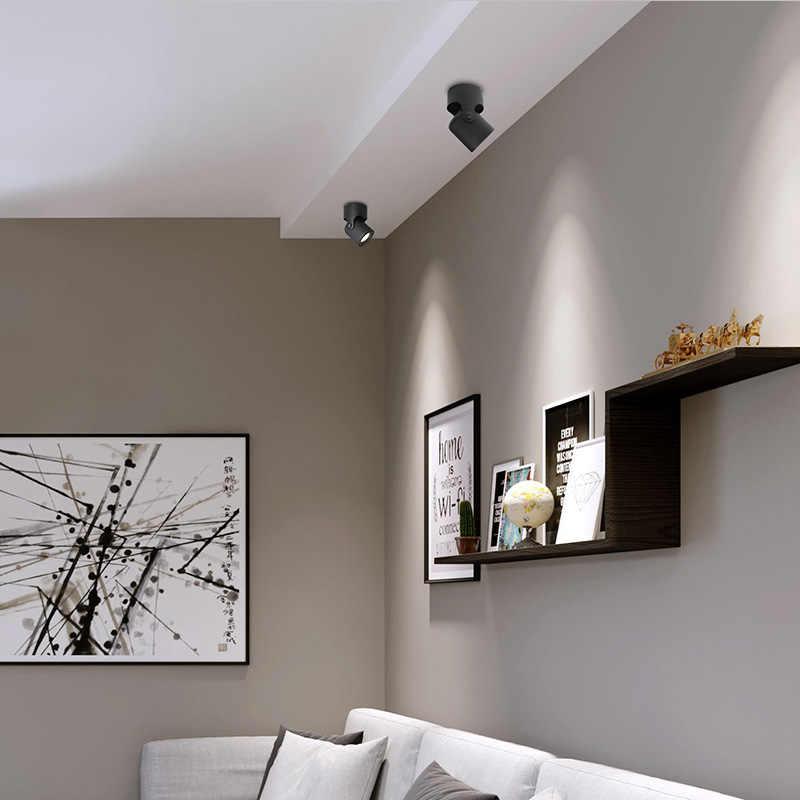 Aisilan lampadaire de plafond, Spot lumineux monté en Surface, lumière de fond en COB, réglable, 180 degrés, lumière de la chambre à coucher