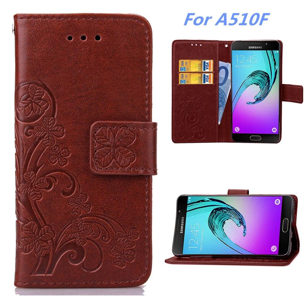 nové styly Luxusní PU kožené pouzdro na telefon pro Samsung Galaxy A5 (2016) SM-A510F (5,2 palců) s krytkou na karty 6 barevných možností