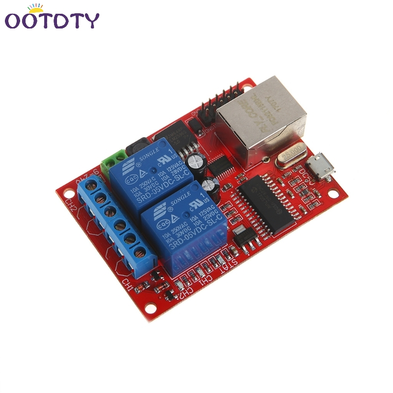 LAN Ethernet 2 Way Relay Board Delay Switch TCP/UDP Controller Module Web Server-3Z 8 ethernet relay network switch point dynamic delay tcpudp module controller local button