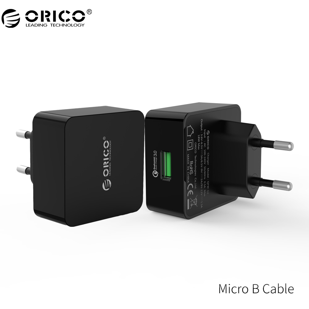Orico Qtw 1u Qc30 1 Port Usb Quick Charger Wall With 1m 6218us3 Hdd Dock Bay 30 35