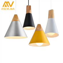 ASCELINA Nordic Modern Creative Pendant lights loft led lamp Bar/Cafe/Restaurant/Corridor/Balcony home lighting single head e27