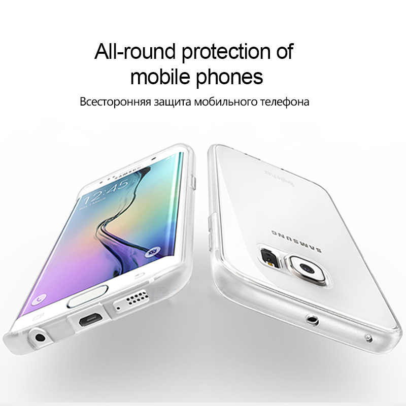 Şeffaf samsung kılıfı Galaxy S6 S7 kenar Ultra İnce şeffaf yumuşak TPU silikon kapaklı kılıf Samsung S7 S6 kılıf Coque Fundas