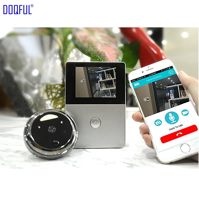 2.8 Inch Monitor 1.0mp Hd Wifi Peephole Video Doorbell Oled Ultra-low Power Consumption Remote Via Smart Phone Microusb Battery Suitable For Men And Women Of All Ages In All Seasons