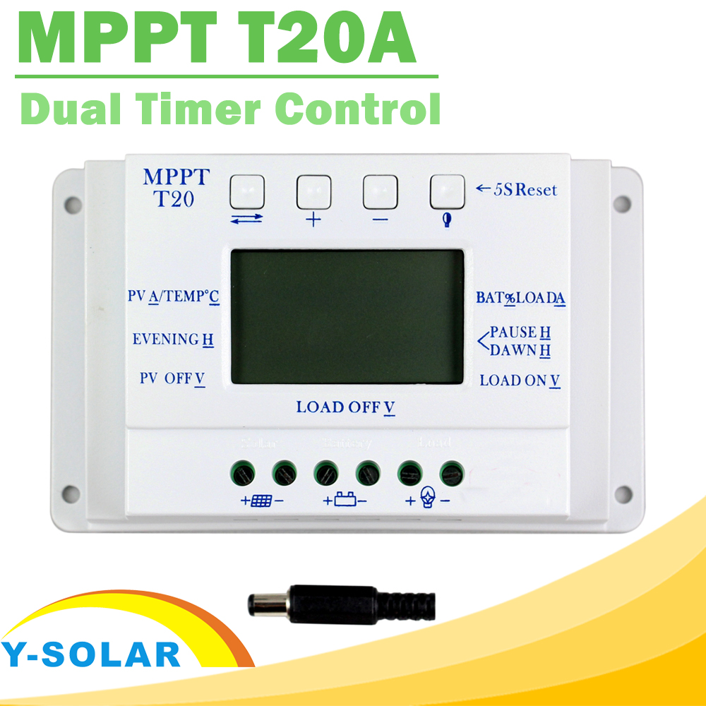 LCD Display 20A 12V/24V MPPT Solar Panel Battery Regulator Charge Controller for Lighting System Load Light and Timer Control citilux потолочный светильник citilux дюрен cl538110