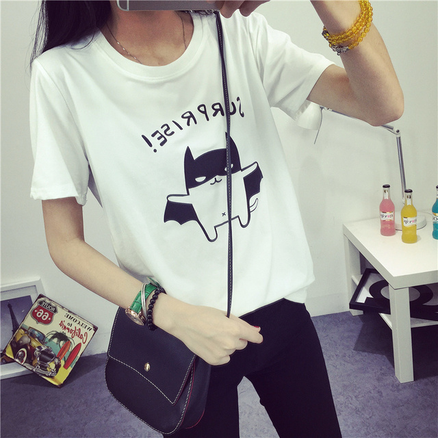 Lovely Bat Print Short Sleeve T-Shirt