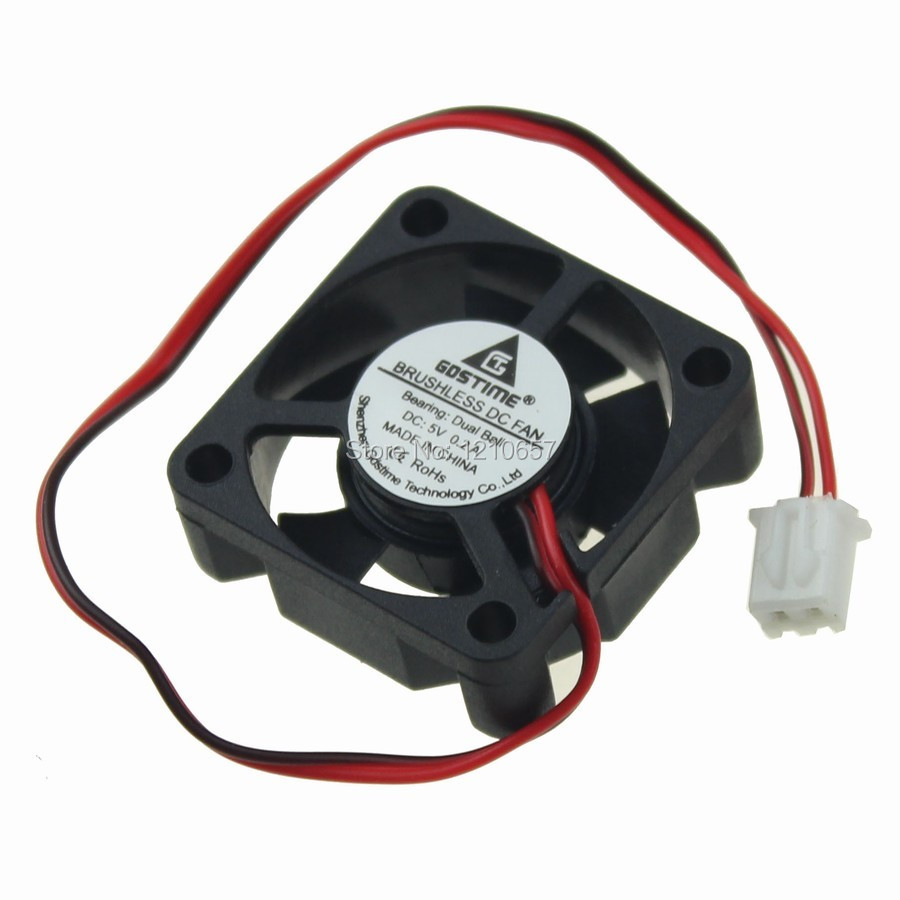 2Pieces lot 30mm 30x30x10mm 3CM Ball DC 5V 2Pin Mini Brushless Cooling Cooler Fan 18000RPM High Speed 30 pieces lot vs1053b