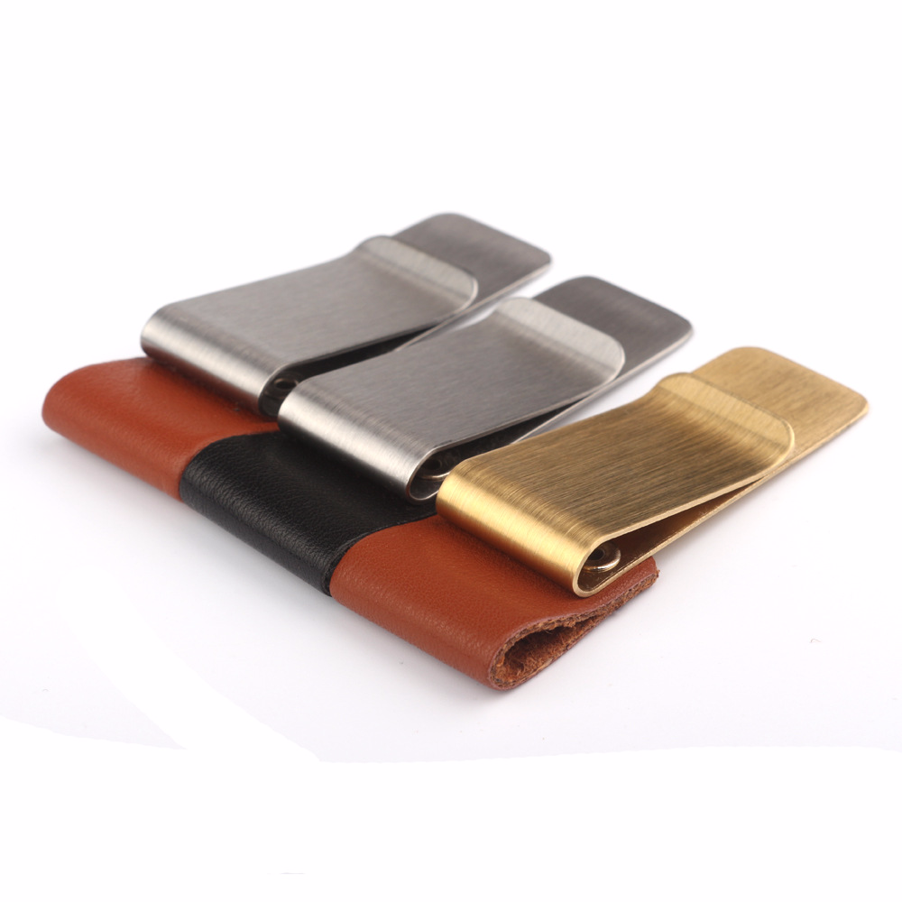 2016 Stainless Steel copper Slim Pocket men design Money Clip Wallet Cash font b ID b