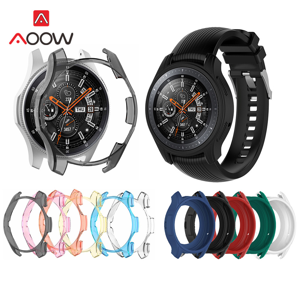 Candy Color Silicone Transparent Protective Case For Samsung Galaxy Watch 46mm SM-R800 Protector Cover For Gear S3 Frontier Band