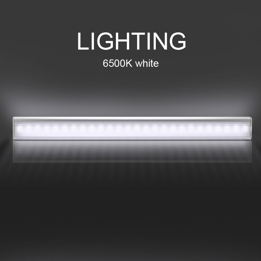 DVOLADOR 27 LED 1to4 mode adjustable Motion Sensor Closet Cabinet Light Battery Cupboard Kitchen Cabinet Light USB charge line