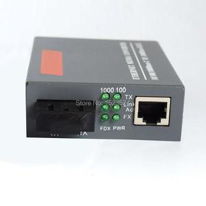 Image 2 - Бесплатная доставка, конвертер оптического волокна Gigabit, 1000 Мбит/с, многомодовый дуплексный порт SC, 2 км, внешний источник питания