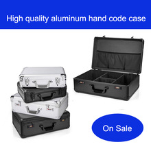 Aluminum Tool case suitcase toolbox File box Impact resistant safety case equipment camera case Sample Display Toolbox