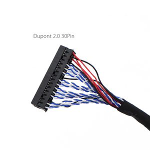 Image 5 - 250mm/450mm with hooks LVDS Cable FIX 30P D8 FIX 30Pins D8 Double 2ch 8bit 1.0mm Pitch for 17 21 LCD Display Panel Controller