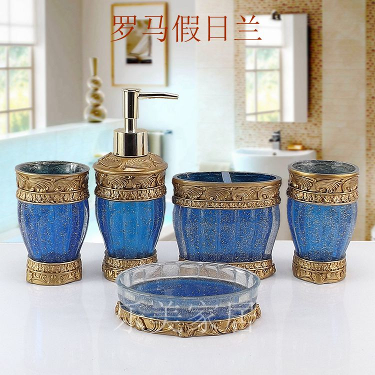 Fashion bathroom supplies resin bathroom set of five for Fashion bathroom set