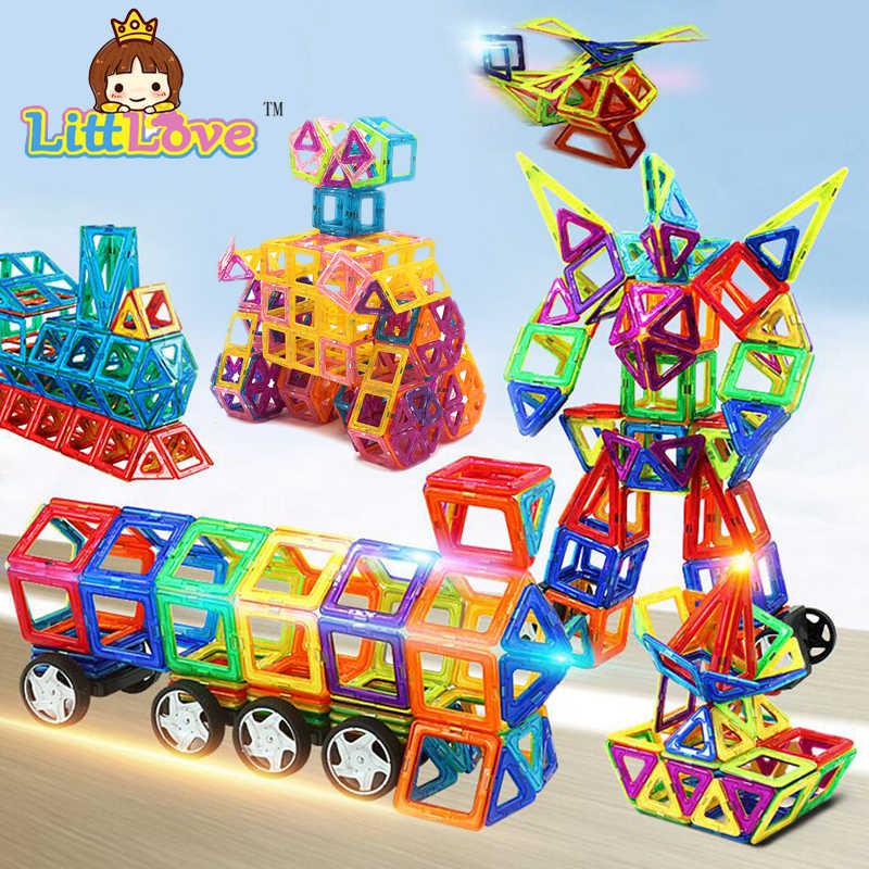 2017 Ukuran Besar 58 Pcs Truk Magnetic Blok Model Bangunan Batu Bata Pendidikan DIY Magnetic Designer Blok Mainan Untuk Anak-anak