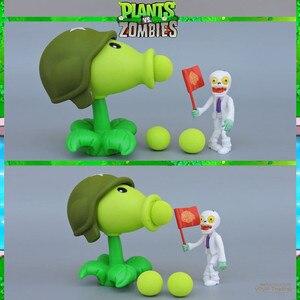 Image 5 - Plants VS. Zombies Figures Peashooter Sunflower Cherry Bomb Snow Pea Chomper Jalapeno Cactus Cob Cannon Plane PVZ Model Toys