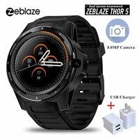 Zeblaze Thor 5 двойная система 4G Bluetooth Смарт часы 8MP фронтальная камера GPS WIFI 4G монитор сердечного ритма умные часы для мужчин Android 7,1