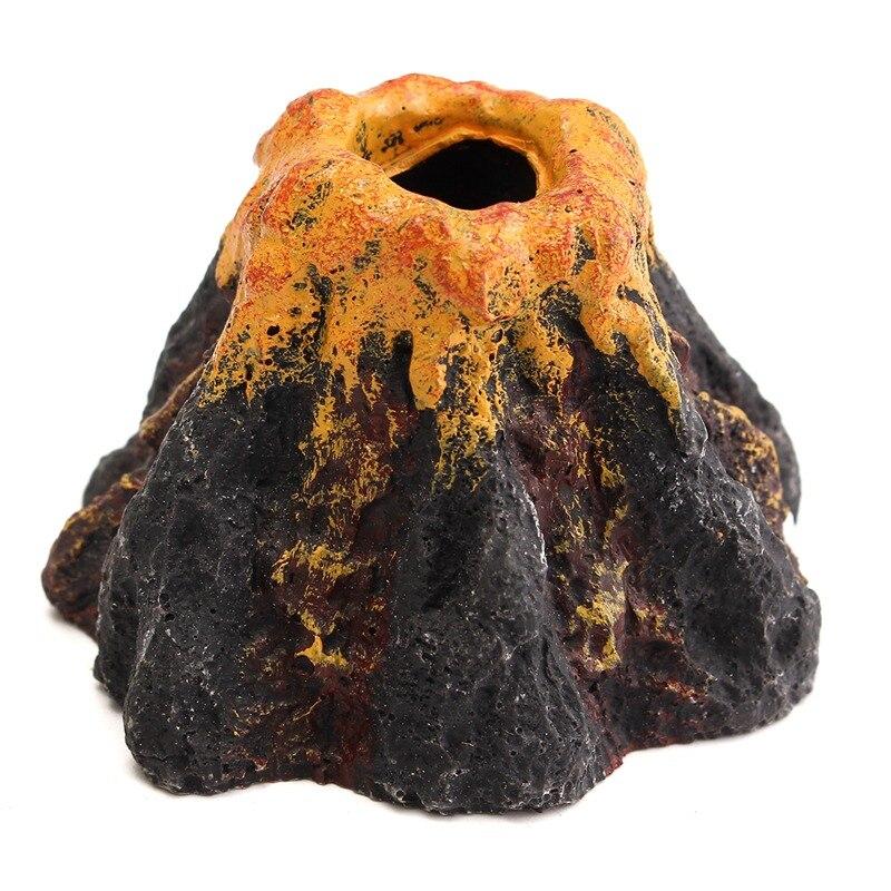 Doelbewust Mini Hars Vulkaan Roekenkolonie Ornament Beeldjes Hars Ambachten Voor Aquarium Tank Fish Micro Miniaturen Landschap Landschap Decor Een Compleet Scala Aan Specificaties
