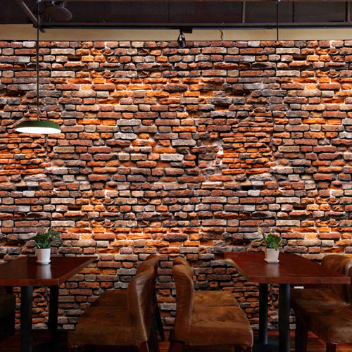 Cool Wallpapers For A Room: Custom 3d Mural 3D Red Brick Building Photography