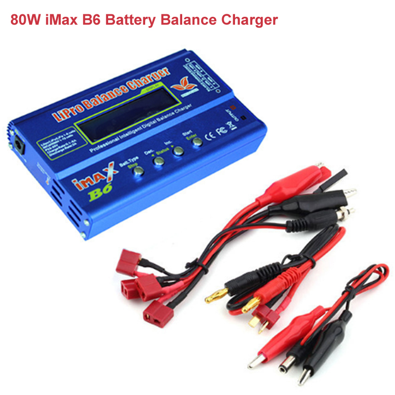 Cabzty iMax B6 Balance Charger 80W 6A Model Li-Po Li-Fe Ni-MH Li-lon Ni-Cd PB Battery Charger T plug  12V 5A adapter optional