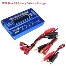 Cabzty iMax B6 Balance Charger 80W 6A Model Li Po/Li Fe/Ni MH/Li lon/Ni Cd/PB Battery Charger T plug (12V/5A adapter optional)