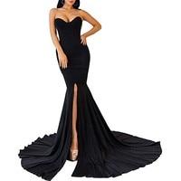 Womens Strapless Asymmetric Slit Front Evening Party Wedding Above Knee Mini Fashion ladies' clothing