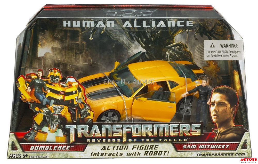product Robots Bumblebee+Sam Action Figures Classic Toys For Boys Human Alliance Revenge of the Fallen With Box In Stock