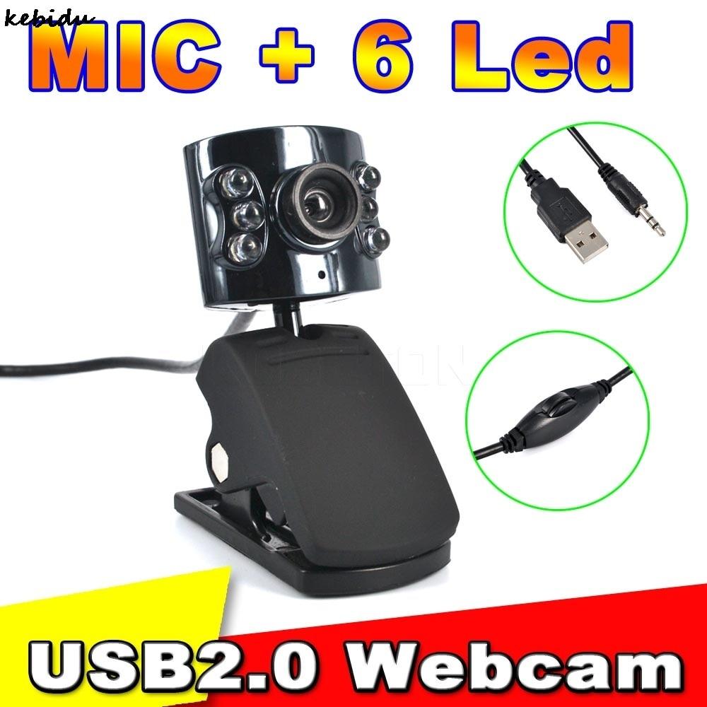 Kebidu Webcam 30 0 Mega Pixel Usb 2 0 Camera With 6 Led