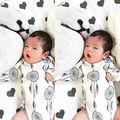 Bebê recém-nascido Meninos Meninas Veados Roupas de Algodão Macacão de Manga Longa Macacão Xmas Roupas Outfits