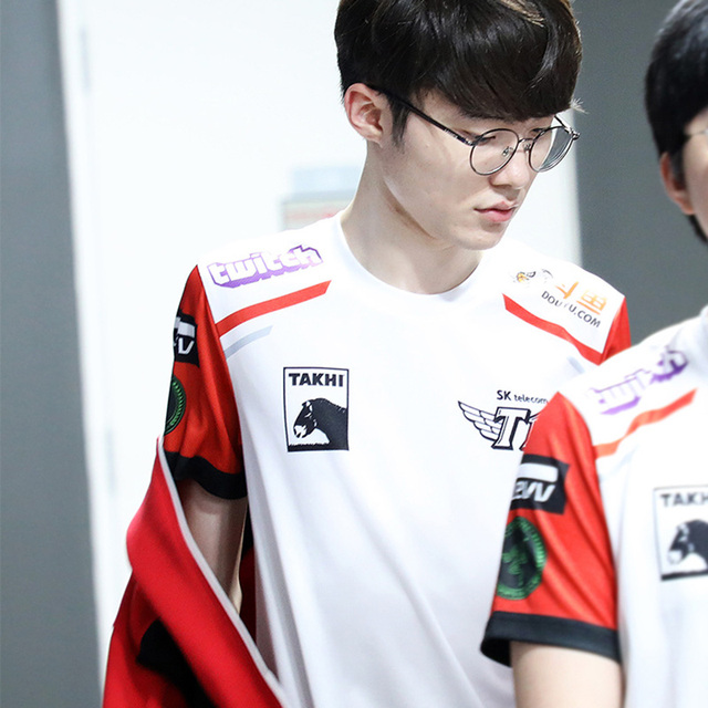 59e6f3e6d LPL Summer 2018 skt t1 t shirt SKT T1 Faker Shirt LOL Pro League Champion  Shirts
