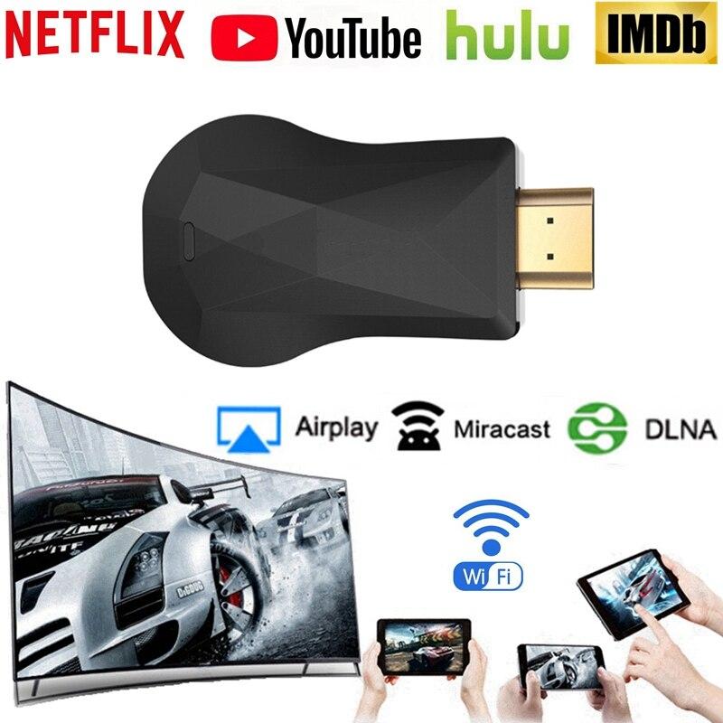 HDMI WiFi pantalla Dongle TV Stick YouTube Netflix AirPlay Miracast para Mirascreen Google Chromecast Chrome Chromecast 2