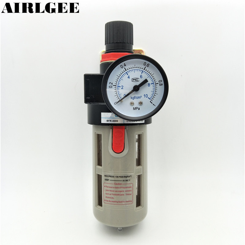 9.5 Mpa 1/2PT Thread BFR 4000 Pneumatic Pressure Air Source Adjustable Filter 13mm male thread pressure relief valve for air compressor
