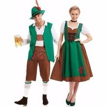 Umorden Bavarian Oktoberfest Costume Men Women German Beer Maid Waiter Costumes Fantasia Cosplay Dress Outfit for Couple