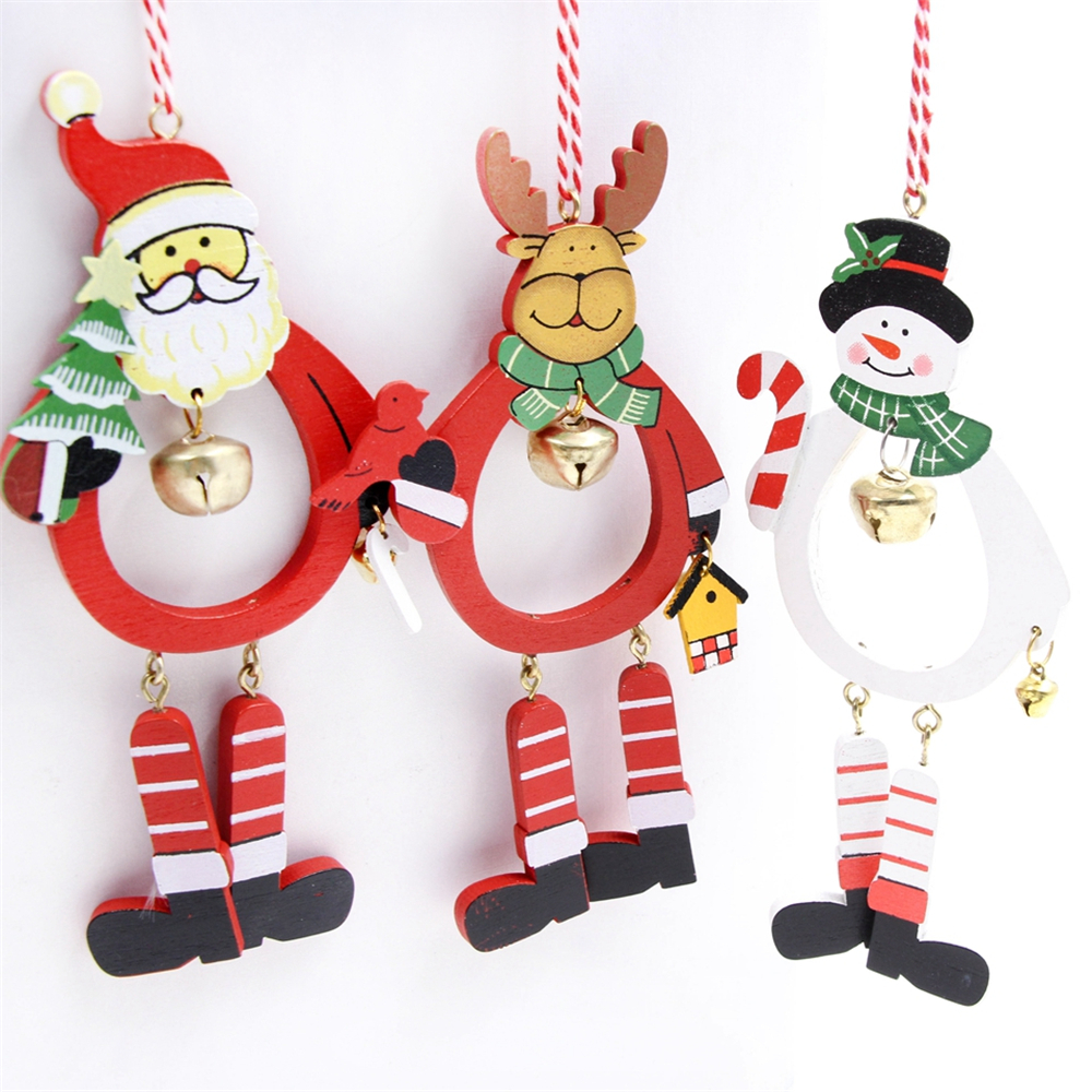 Cool Snowman Decoration Ornaments For Christmas Tree: 1pc DIY Creative Wood Crafts New Year Home Decor Wooden