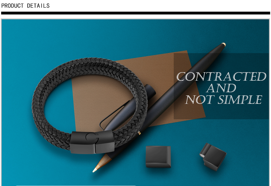 HTB1mcwPXZfrK1RkSnb4q6xHRFXaR - Jiayiqi Punk Men Jewelry Black/Brown Braided Leather Bracelet Stainless Steel Magnetic Clasp Fashion Bangles 18.5/22/20.5cm